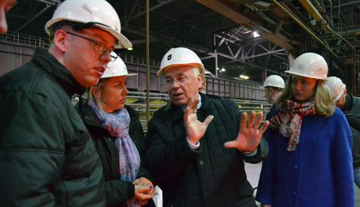 Посещение Оскольского электрометаллургического комбината